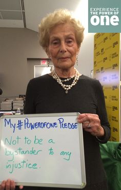 """Holocaust survivor Estelle Laughlin pledged not to be a bystander to any injustice. Listen to her Chicago Ideas Week talk, """"Witness: I Changed History."""""""