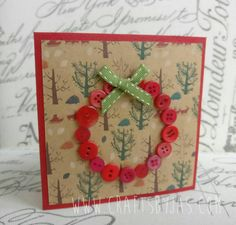 Woodland Wreath Christmas card by JassCrafts on Etsy