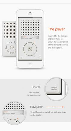 T3 Player App by Eder Rengifo, via Behance