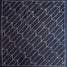 Japanse sashiko stof - Yabane (pijl) paneel nummer 209 door kallistiquilts op Etsy https://www.etsy.com/nl/listing/78416547/japanse-sashiko-stof-yabane-pijl-paneel
