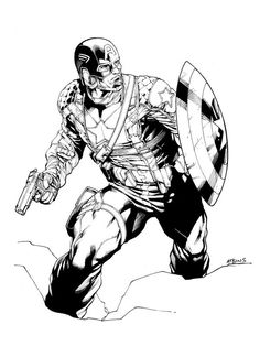 Robert Atkins has been posting a sketch of Captain America