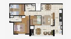 Cobertura duplex (inferior) 152 m² c/ 3 dorms.