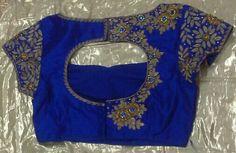 Raw silk blouse with zari and zardosi work 7702919644