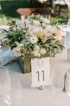Elegant wedding centerpieces for a rustic wedding.