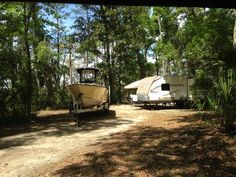 Huge campsites on the marsh at Fort McAllister State Historic Park