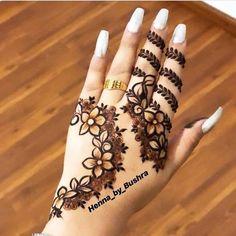 Modern Henna Designs, Rose Mehndi Designs, Finger Henna Designs, Mehndi Designs For Beginners, Wedding Mehndi Designs, Mehndi Designs For Fingers, Beautiful Henna Designs, Latest Mehndi Designs, Henna Tattoo Designs