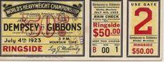 Dempsey vs gibbons, 1923