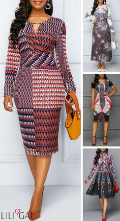 Find a special occasion dress that you'll feel your best in. Shop Liligal for all your holiday wardrobe needs and find an elegant colorful dress that's anything but basic. Latest African Fashion Dresses, African Print Fashion, African Attire, African Dress, Nice Dresses, Casual Dresses, Casual Outfits, Chitenge Dresses, Ankara Dress Styles