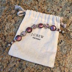 J CREW GLASS BEAD BRACELET HIGH QUALITY GLASS BEAD J CREW BRACELET ON STERLING SILVER CLASP J. Crew Jewelry Bracelets