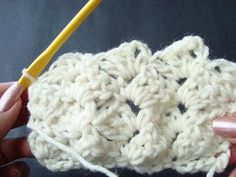 Follow this step by step tutorial to learn how to crochet a crazy shell stitch