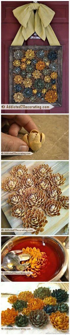 DIY Pistachios Skin Flower DIY Projects   UsefulDIY.com