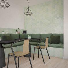 Zijn de keramische versie van de originele handgemaakte Marokkaanse tegeltjes. Deze hexagonale of zeshoekige wantegels zijn beschikbaar in een uitgebreid en levendig kleurpalet en op formaat 10,8 x 12,4 cm.  Deze munt groene kleur is zacht van tint en heeft toch verschillende kleurschakeringen. Outdoor Furniture Sets, Outdoor Decor, Home Design, Decoration, Dining Table, Room, Home Decor, Wall Tiles, Wall Cladding