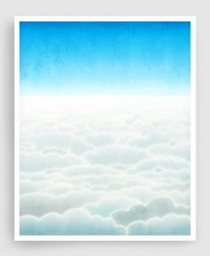 Looking for Something sky print by Tubidu. Like the best bits of the view from a plane. A perfect scene for mindfulness, reflection and ideas floating into view.