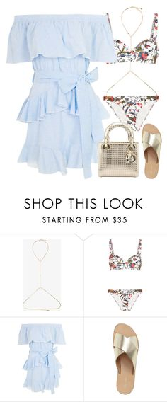 """Untitled #2994"" by briarachele on Polyvore featuring Rosantica, Tory Burch, Topshop and Christian Dior"