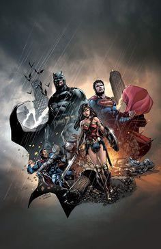Batman vs Superman by Jason Fabok Batman Vs Superman, Poster Superman, Superman Artwork, Superman Wonder Woman, Comic Book Heroes, Comic Books Art, Justice League, Der Joker, Dc Trinity