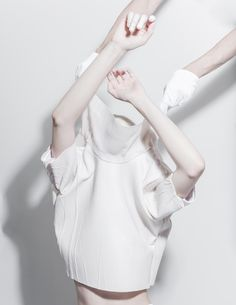 Melitta Baumeister Graduation Collection - Thisispaper Magazine white colour color pale art design photography blanc #white #pale