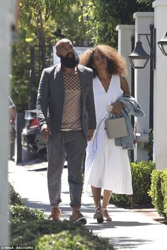 Solange Knowles and her husband, Alan Ferguson, are spotted at Gracias Madre Restaurant Black Love, My Black Is Beautiful, Beautiful People, Solange Knowles, Photo Couple, Couple Pics, Black Couples Goals, Stylish Couple, White Sleeveless Dress