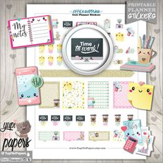 Office Stuff Stickers Planner Stickers Office by YupiYeiPapers