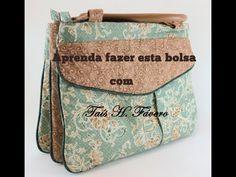Passo a Passo da bolsa com três divisórias por Taís H. Fávero - YouTube