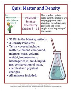 quiz on matter and density - Marriage Counseling Certificate Of Completion Template