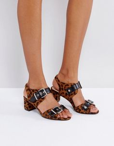 1ac085c57cab2d Get this Raid s heeled sandals now! Click for more details. Worldwide  shipping. RAID Radman Leopard Heeled Sandals - Multi  Sandals by Raid
