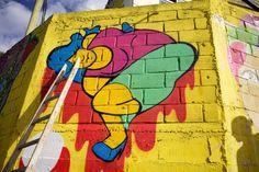 Graffiti (na imagem ainda em processo): Clara
