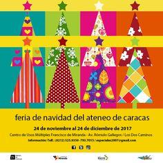 Si quieres participar en la tan esperada Feria de Navidad del Ateneo de Caracas, desde el 24 de noviembre hasta el 24 de diciembre, todavía estás a tiempo. Para mayor información, comunícate a través de especiales2007@gmail.com