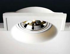 Lámpara de yeso para empotrar en techo #decoracion #iluminacion #interiorismo #lamparas