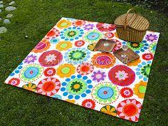Manta de flores para picnic $25,990