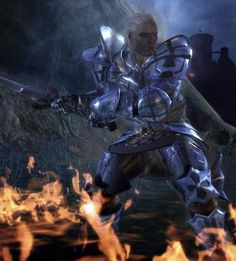 Dragon Age: Origins; Sten fighting at Redcliffe