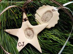 Thumbprint Clay Ornaments