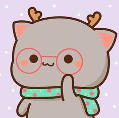 Cute Animal Drawings Kawaii, Kawaii Drawings, Cute Love Pictures, Cute Images, Cute Cat Gif, Cute Cats, Kawaii Cute Wallpapers, Pusheen Cute, Cute Cat Illustration