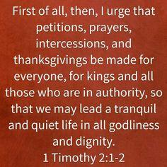 1 Timothy 2:1-2 HCSB