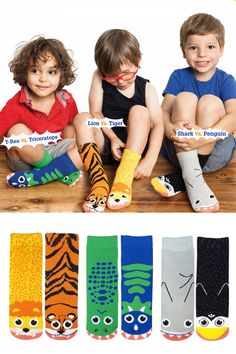 Boys Vs. Socks (3-Pack): For Kids 4-8 Years Old. Get Three Different Pairs Of Opposing Character Socks.