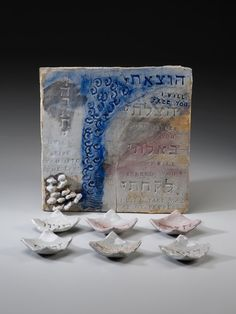 Five Promises Jewish Passover Seder Plate by OyClayPottery on Etsy, $162.00