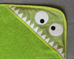 DIY... Monster Hooded Towel   Haberdashery Fun
