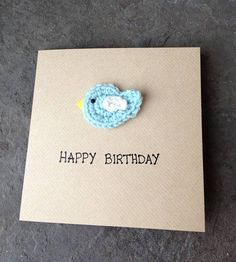 crochet bird brooch mother's day card by rainy williamson cakes & crafts | notonthehighstreet.com