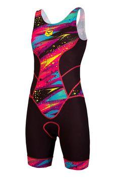 Trisuit de mujer corta distancia para hacer triatlón T190-SHOP (THUNDERBOLT)   Taymory Cycling Wear, Cycling Jerseys, Triathlon, Swimsuits, Swimwear, Sport Outfits, One Piece Swimsuit, Activewear, Wetsuit