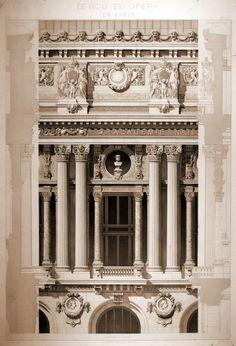Detail, Charles Garnier's Opera House, Paris.