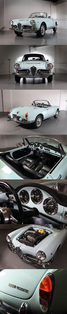 1965 Alfa Romeo Giulia Spider Veloce 1600 / Italy / blue / Pininfarina #alfaromeogiulia #alfaromeogiulietta