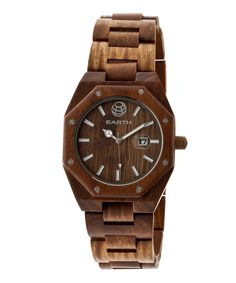 Another great find on #zulily! EARTH wood watches Olive Medullary Raywood Bracelet Watch by EARTH wood watches #zulilyfinds