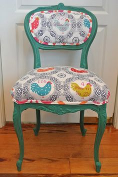 This French chair is simply amazing and a show stopper for sure. Use it at a desk, vanity, extra seat at a kitchen or dining table,in your entry way,