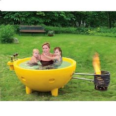 Indulge in this eye catching fire hot tub and amaze your guests with a hot tub that makes a statement. Enjoy the simplicity of relaxing in the tub while you watch as the flames naturally produce steam                                                                                                                                                                                 More