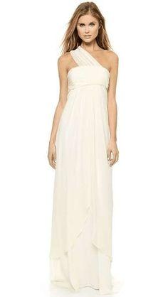 Rachel Zoe | Elle Empire One Shoulder Gown #RachelZoe #bridal #gown