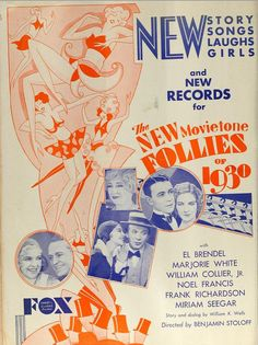 Vintage Film Advert for New Follies of 1930, via Flickr.