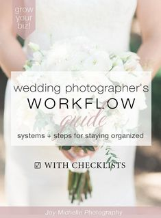 Wedding Photographer's Workflow Guide - systems and steps for staying organized in your photography business. Begin making your business more profitable! *** Find out more at the image link. Wedding Photography Tips, Photography Marketing, Photography Business, Photography Tutorials, Photography Studios, Photography Backdrops, Best Photography Websites, Photography Ideas, Freelance Photography