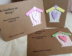 Handmade Change of Address Cards with Envelopes (Pack of 10) by TillyJaneCards on Etsy