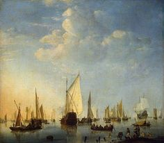 Ships in a Calm Sea - 1653 Willem van de Velde the Younger
