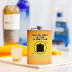 May the vodka be ever in your favor!  Try this funny flask on for size, in the Liquid Courage boutique now!