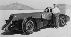 AB Jenkins the originator of the bonneville salt flats with the Meteor III